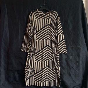 Black and Tan Stripe Dress